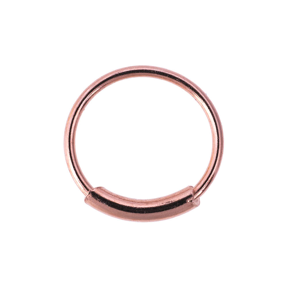 Blue Banana Body Piercing Chirurgenstahl Gold Plated 1.2 x 8mm Cylinder Closure Ring (Rose)