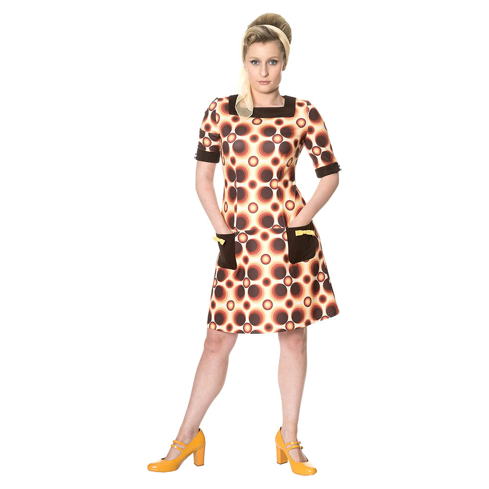 Banned Retro Adventure 60s Dress (Brown)