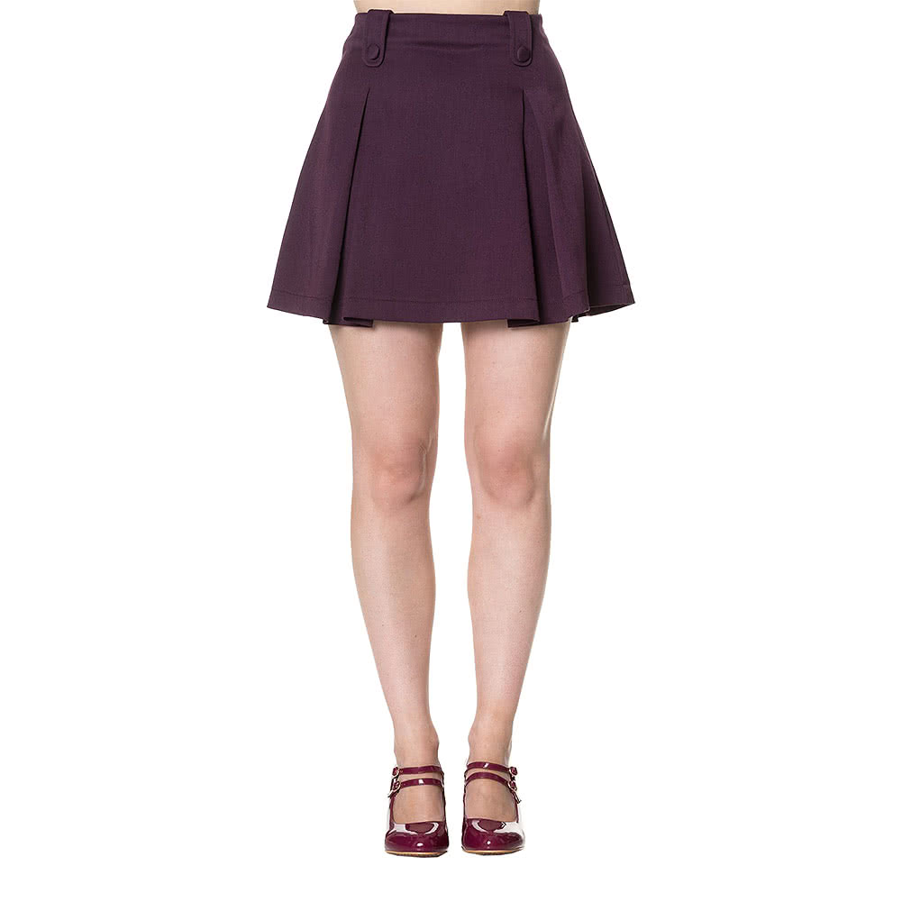 Banned Daylight Awaits Mini Skirt (Purple)