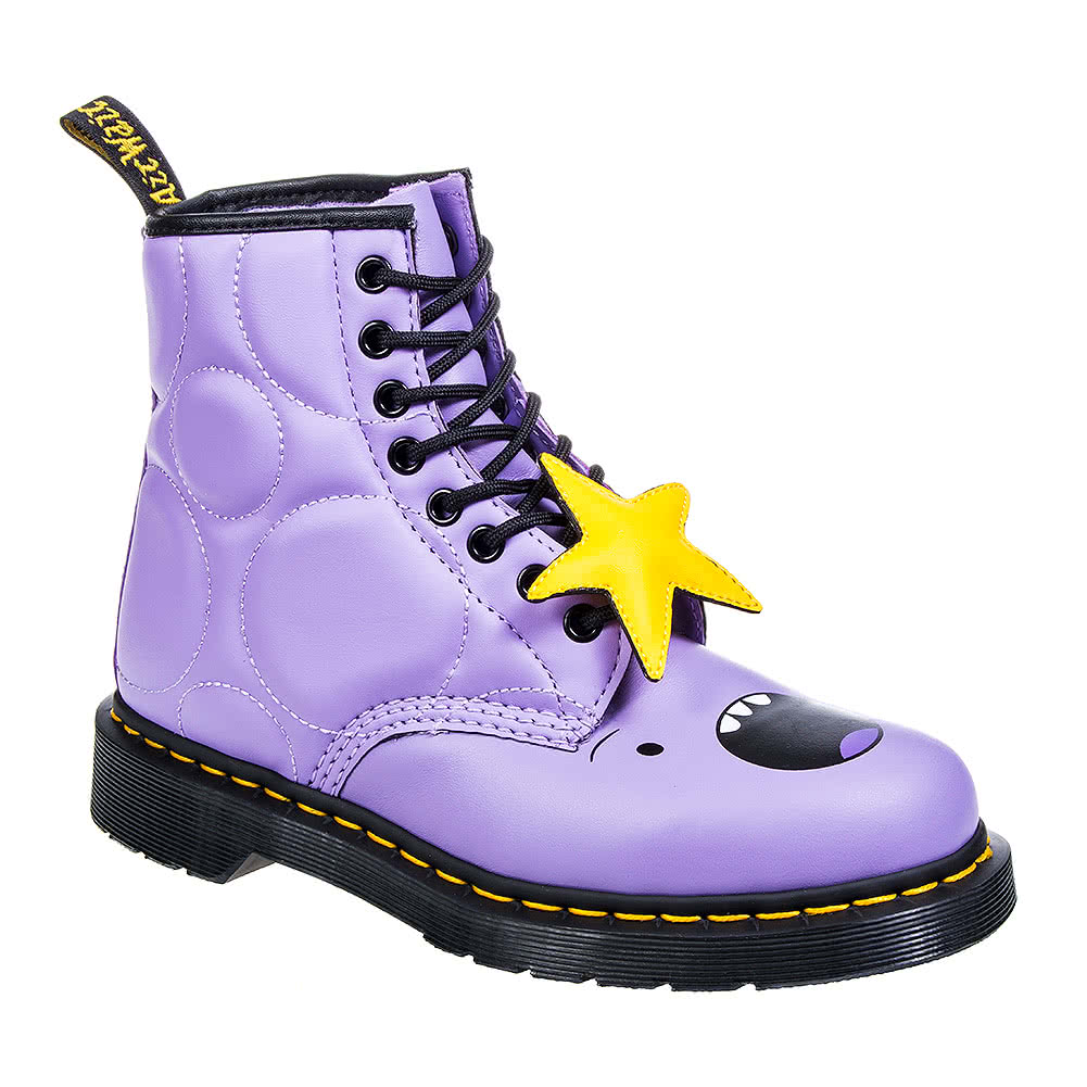 Dr Martens X Adventure Time Lumpy Space Princess 1460 Boots (Purple)