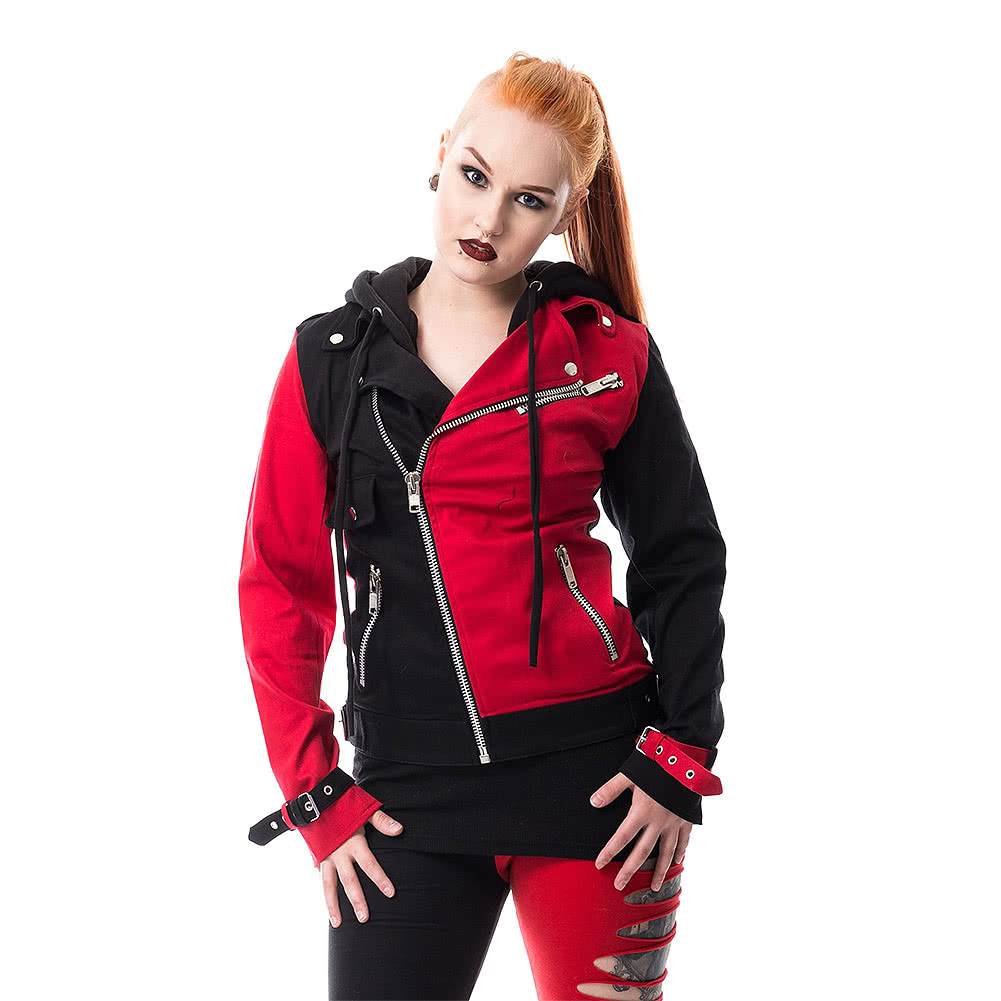 Heartless Jester Varsity Jacket (Black/Red)