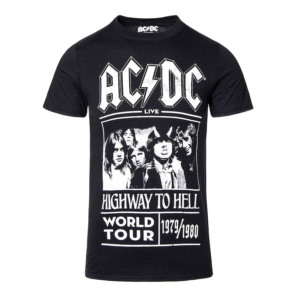 9bc50a324e AC/DC Highway To Hell Tour Black T-Shirt, Official Band Merchandise