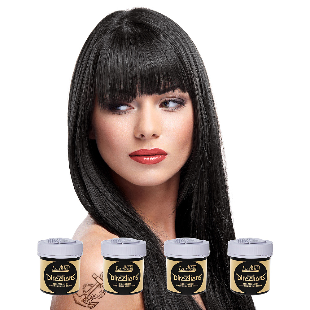 La Riche Directions Pack De 4 Colorations Semi-Permanentes (Ebony)