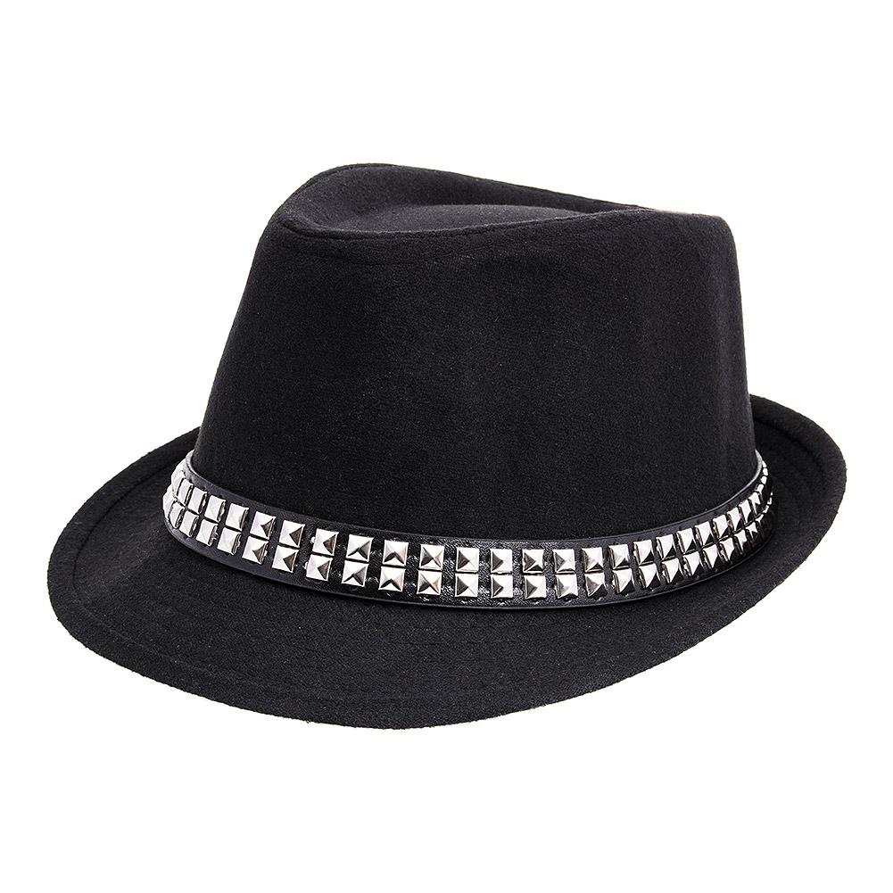 Blue Banana Studded Black Trilby 64a0d27dfb5