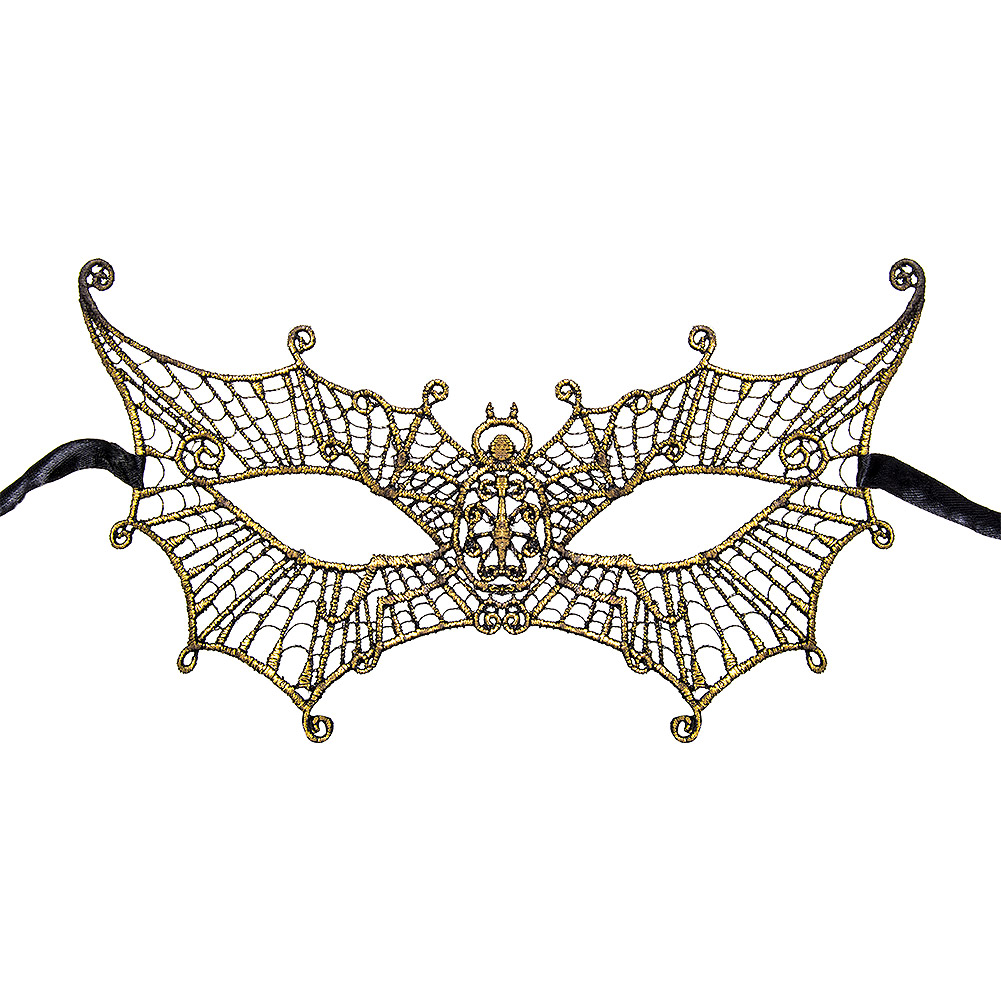 Blue Banana Butterfly Masquerade Mask (Gold)