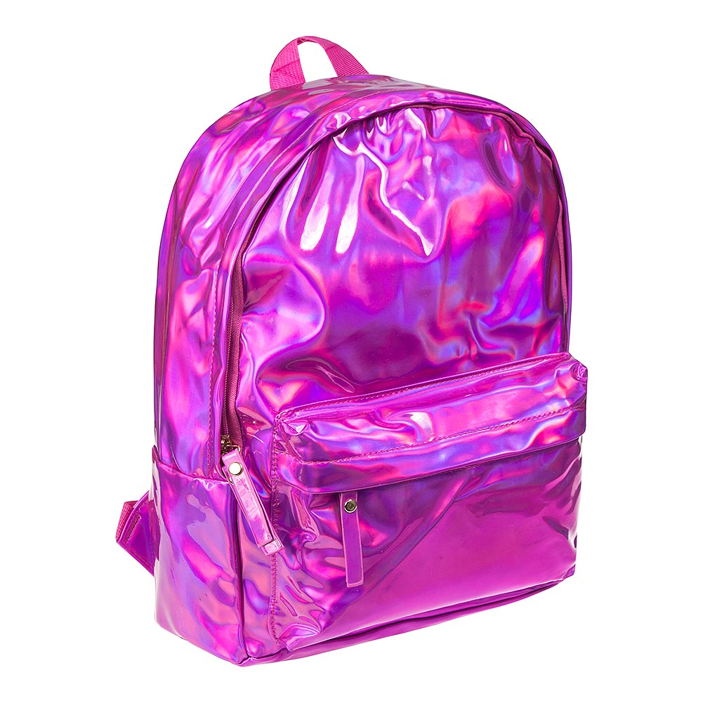 Blue Banana Holographic Backpack (Pink)