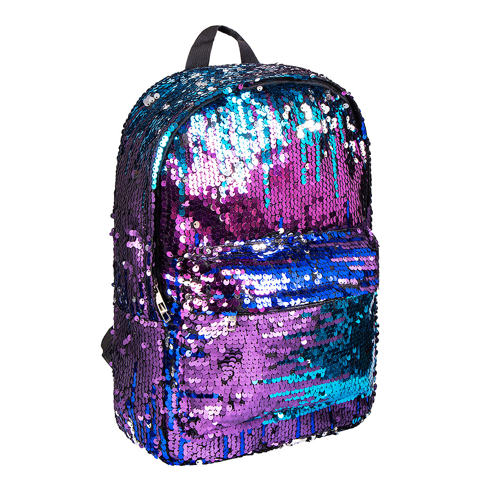 Bleeding Heart Sequin Backpack (Purple/Blue)