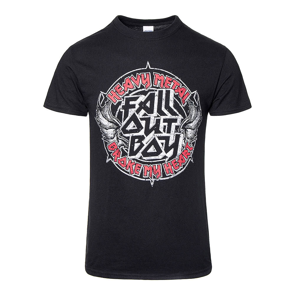 Official Fall Out Boy Heavy Metal T Shirt (Black)