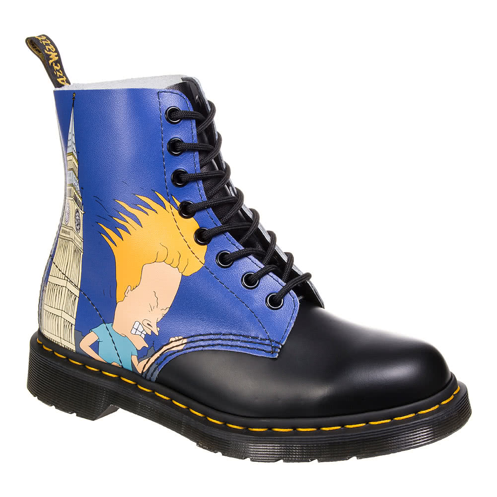 dr martens x beavis butthead blue pascal boots limited edition dms uk. Black Bedroom Furniture Sets. Home Design Ideas