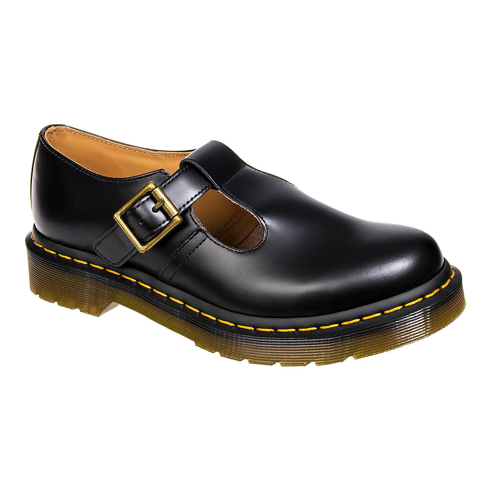 c30167dc61c6 Dr Martens Black Polley Smooth Shoes