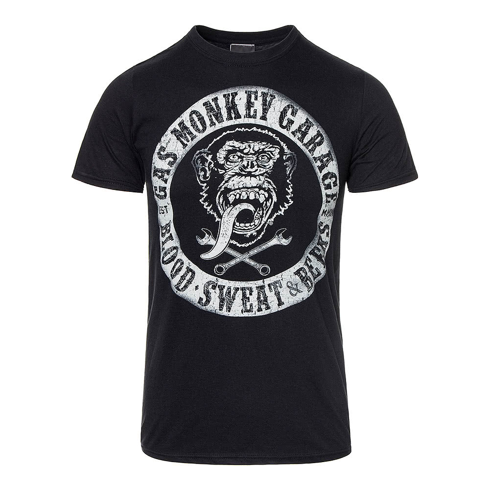 Gas Monkey Garage Blood Sweat & Beers T Shirt (Black)