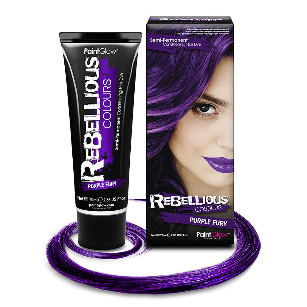 Paintglow Rebellious Colours Coloration Semi-Permanente (Purple Fury)