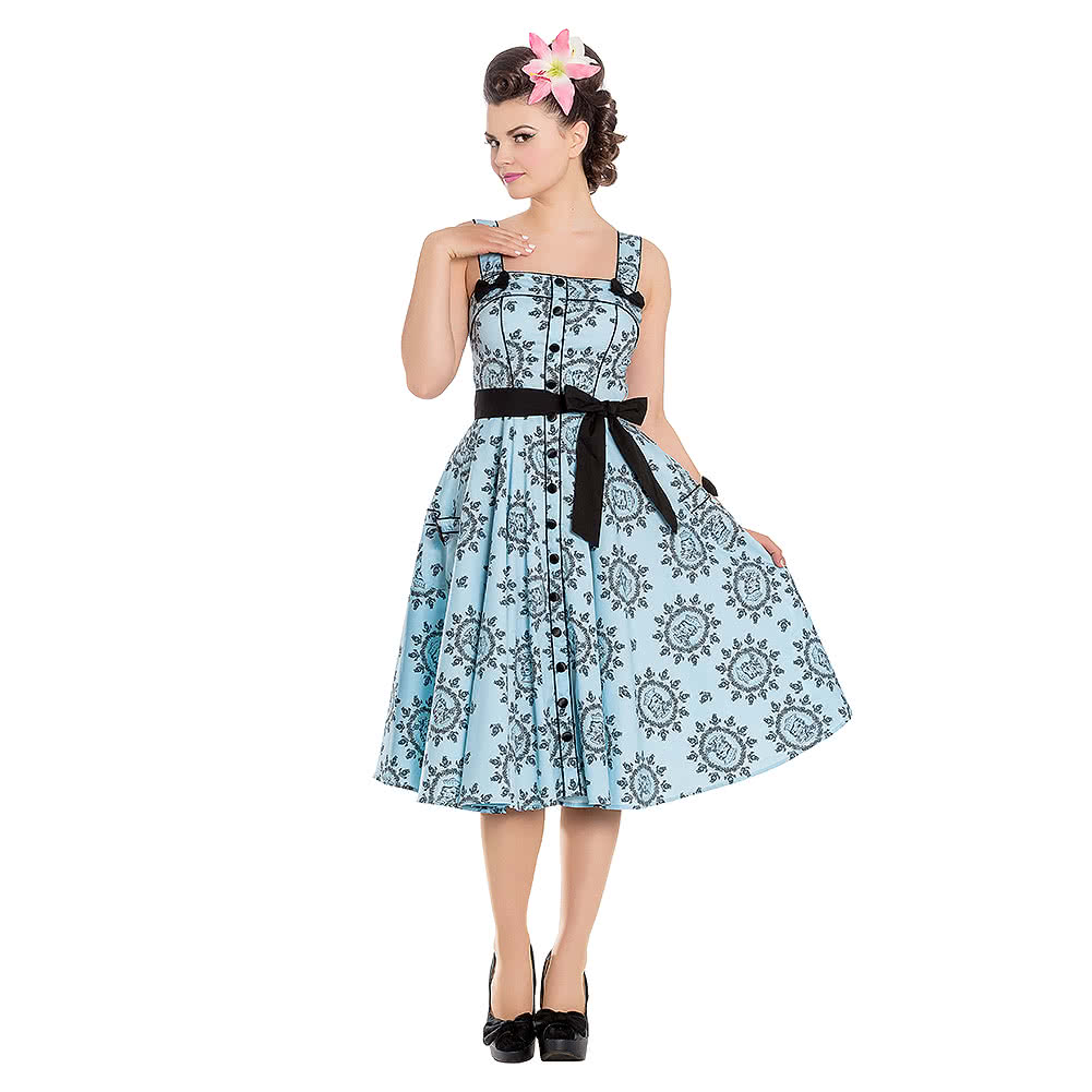 Hell Bunny X Alchemy Gothic Sailor Girl 50's Dress (Blue)