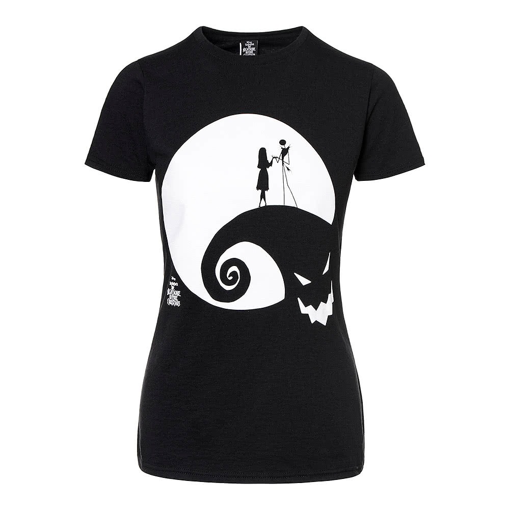 Nightmare Before Christmas Skinny Moon T Shirt (Black)