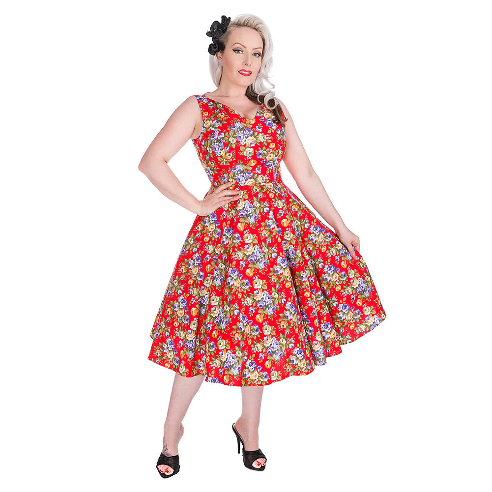 H&R Floral Dress (Red)
