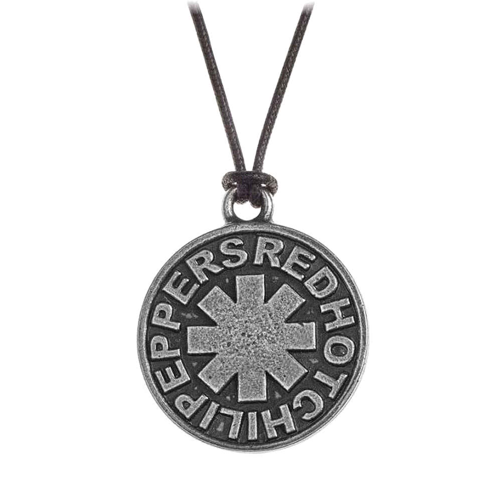 Alchemy Rocks Red Hot Chili Peppers Asterisk Pendant Necklace (Black/Silver)