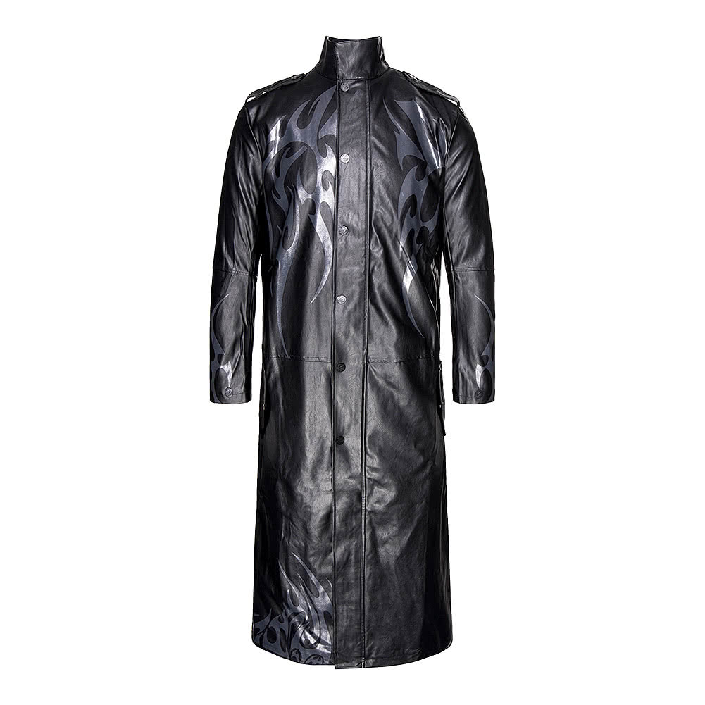 Spiral Direct Death Bones Trench Coat (Black)