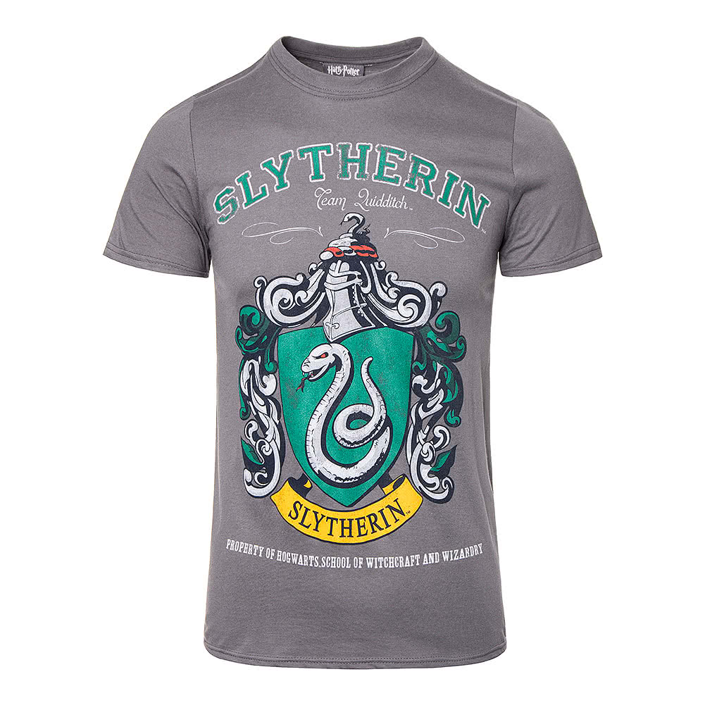 Harry Potter Slytherin T Shirt (Charcoal)