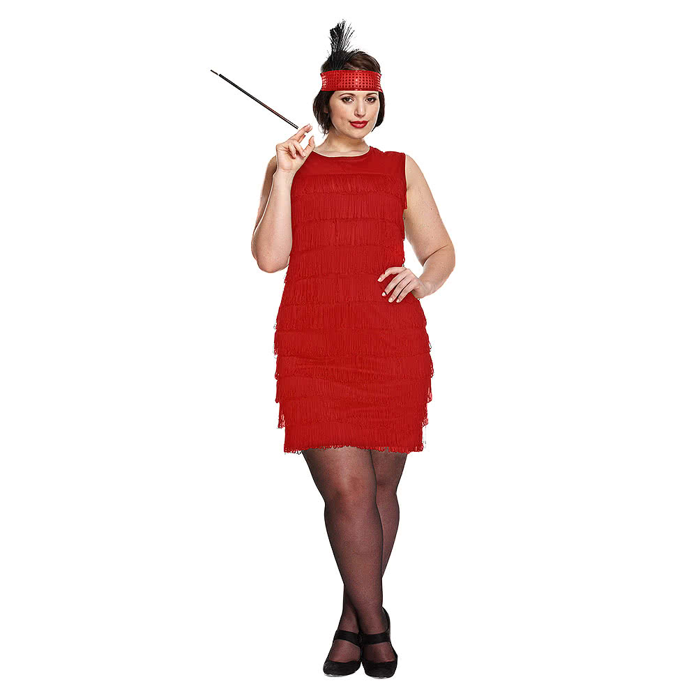 Blue Banana Red Flapper Girl Plus Size Fancy Dress Costume f08927cd2