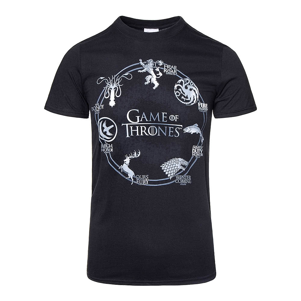 Game Of Thrones Silver Sigils T Shirt (Black)