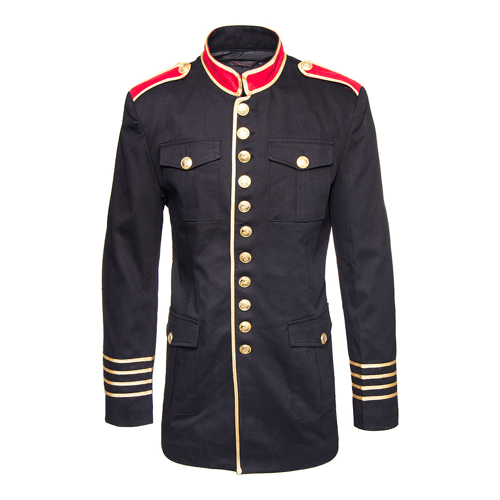 Pentagramme Military Coat (Black/Red)