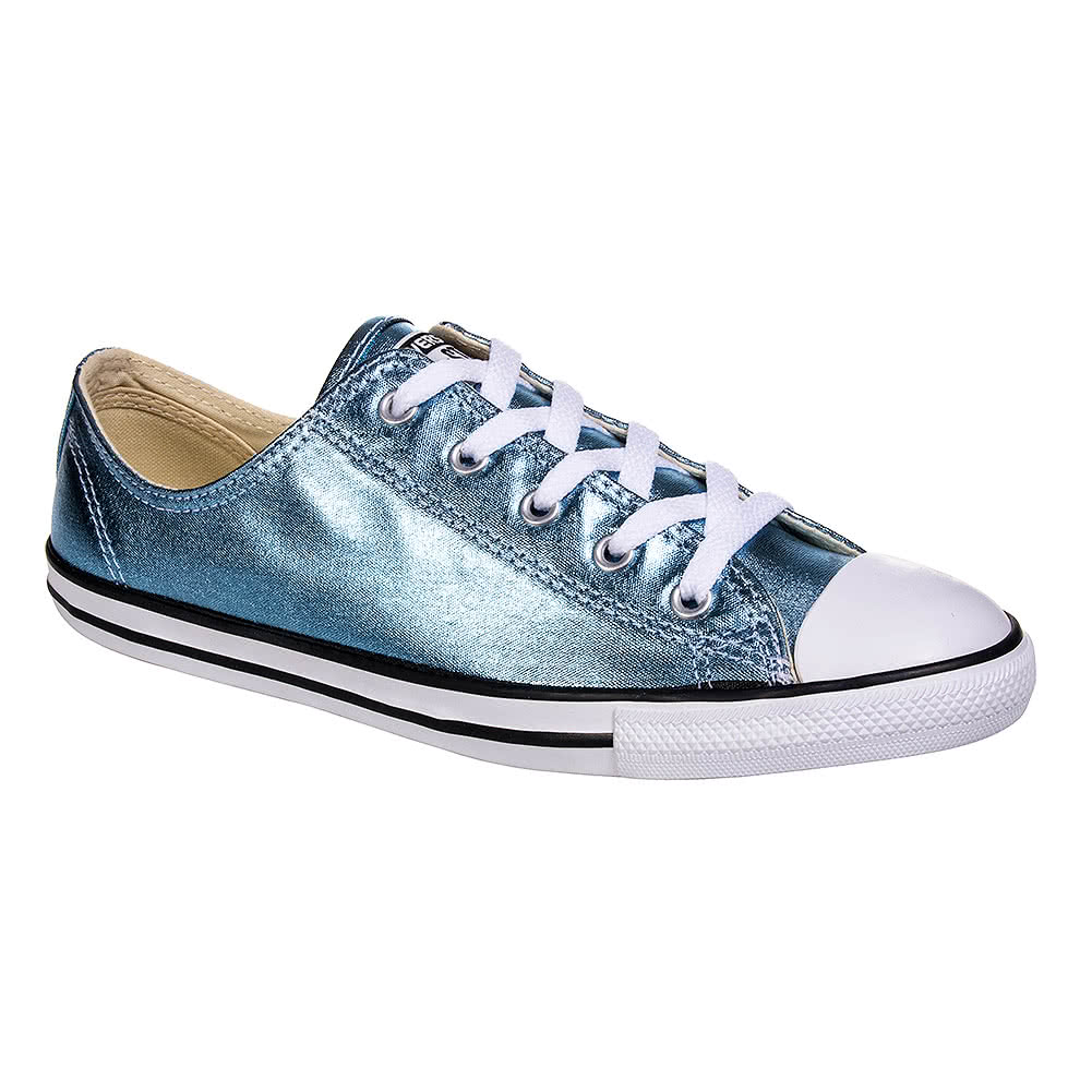 Converse All Star Metallic Dainty Ox Shoes (Blue Coast/Black)