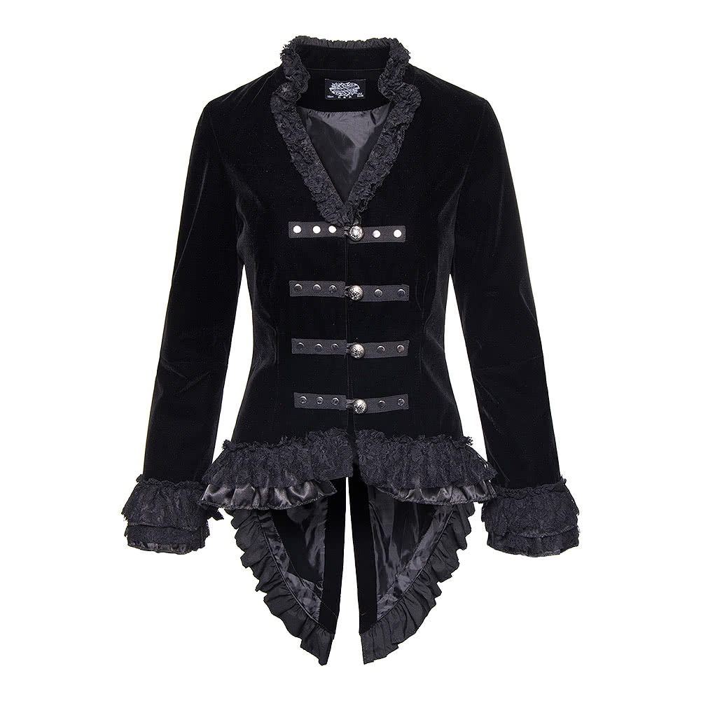 Hu0026R Black Velvet Victorian Jacket Vintage Style Clothing UK