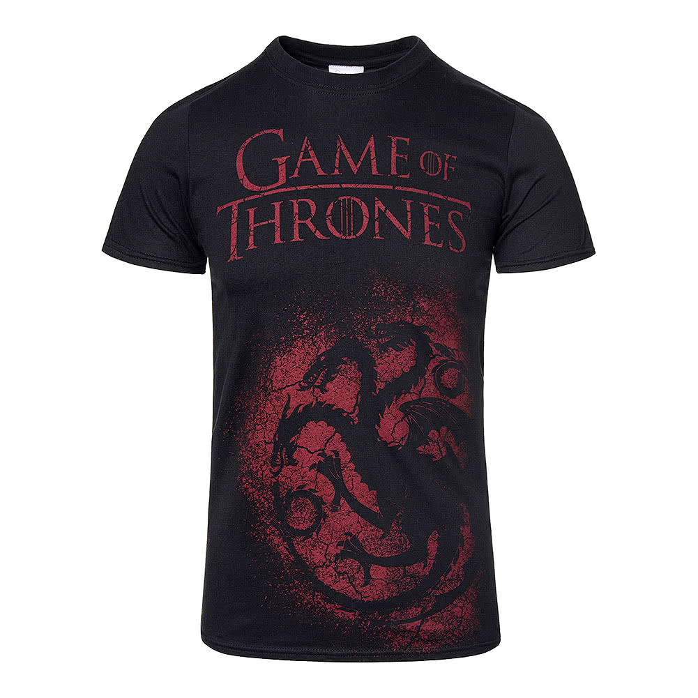 Official black game of thrones house targaryen sigil t for Game t shirts uk