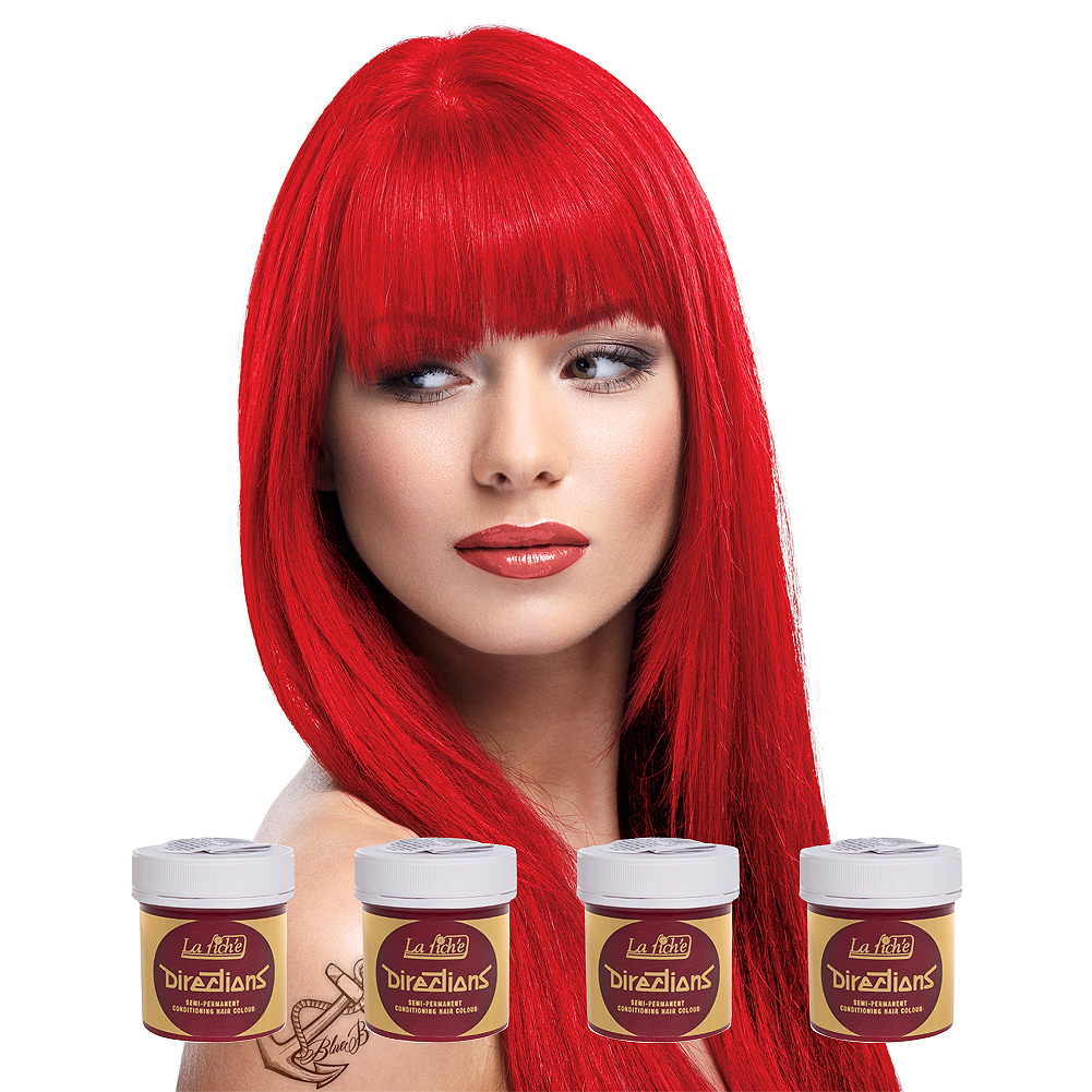 La Riche Directions Colour Hair Dye 4 Pack 88ml (Fire)