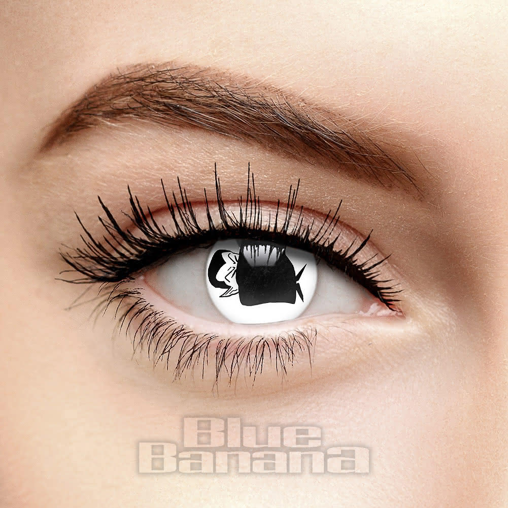 Cape of Dracula 90 Day Coloured Contact Lenses (Black/White)
