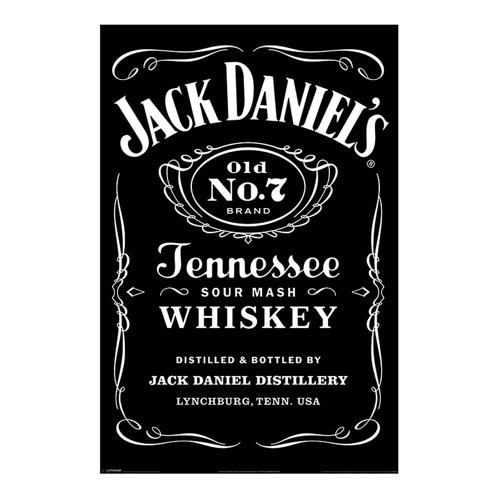 Jack Daniel's Label Poster (Black/White)