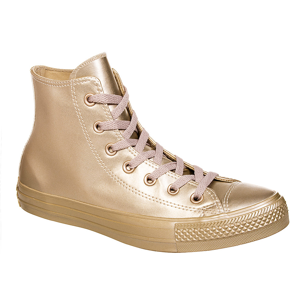 Converse All Star Metallic Hi Top Boots (All Light Gold)