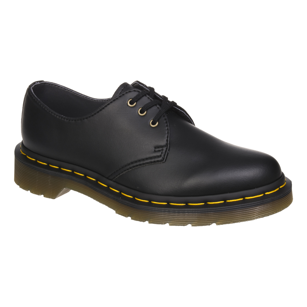 Dr Martens Vegan 1461 Shoes (Black Felix Rub Off)