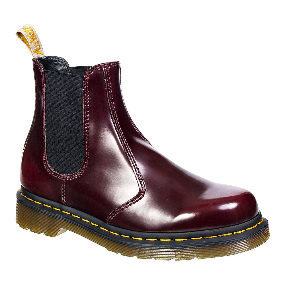 dr martens 2976 vegan cherry red chelsea boots adults shoes. Black Bedroom Furniture Sets. Home Design Ideas