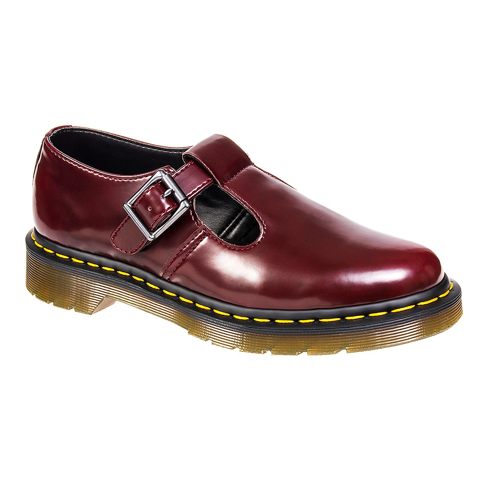 dr martens vegan cherry red polley shoes t bar mary janes. Black Bedroom Furniture Sets. Home Design Ideas