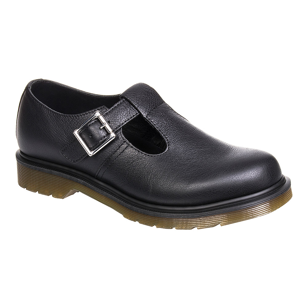 Virginia Smart Footwear Leather Black Martens Dr Shoes Polley qwOntzP8A