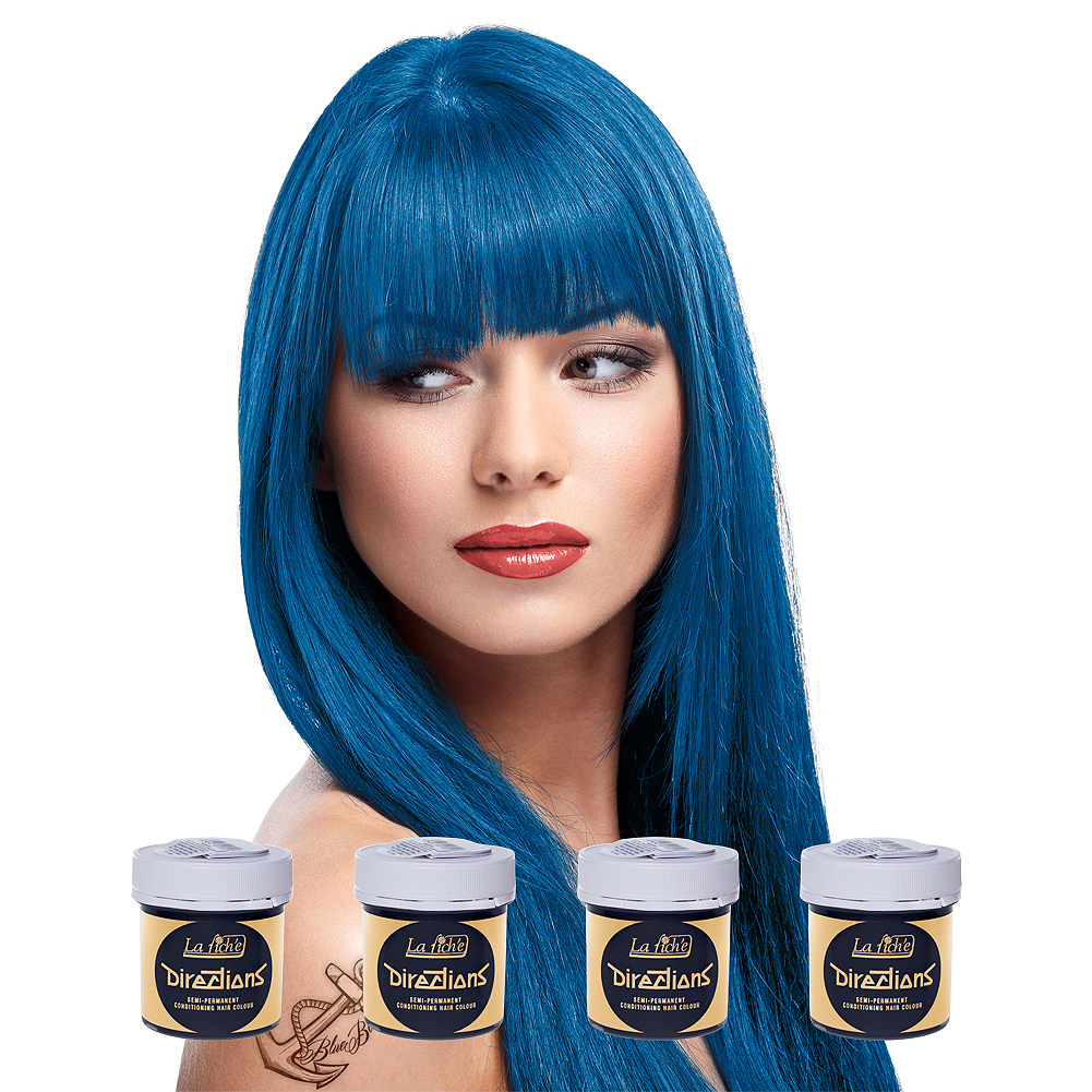 La Riche Directions Colour Hair Dye 4 Pack 88ml (Denim Blue)
