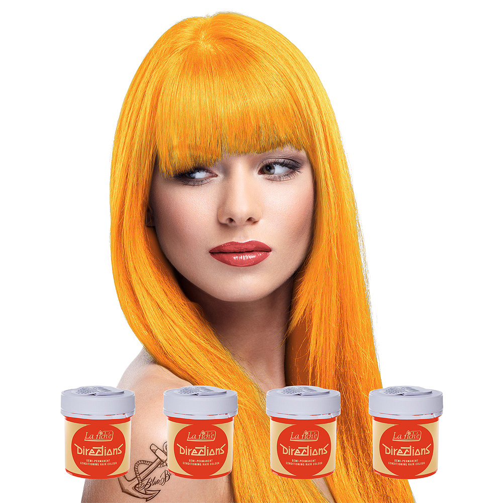 La Riche Directions Colour Apricot Hair Dye 4 Pack 88ml Semi