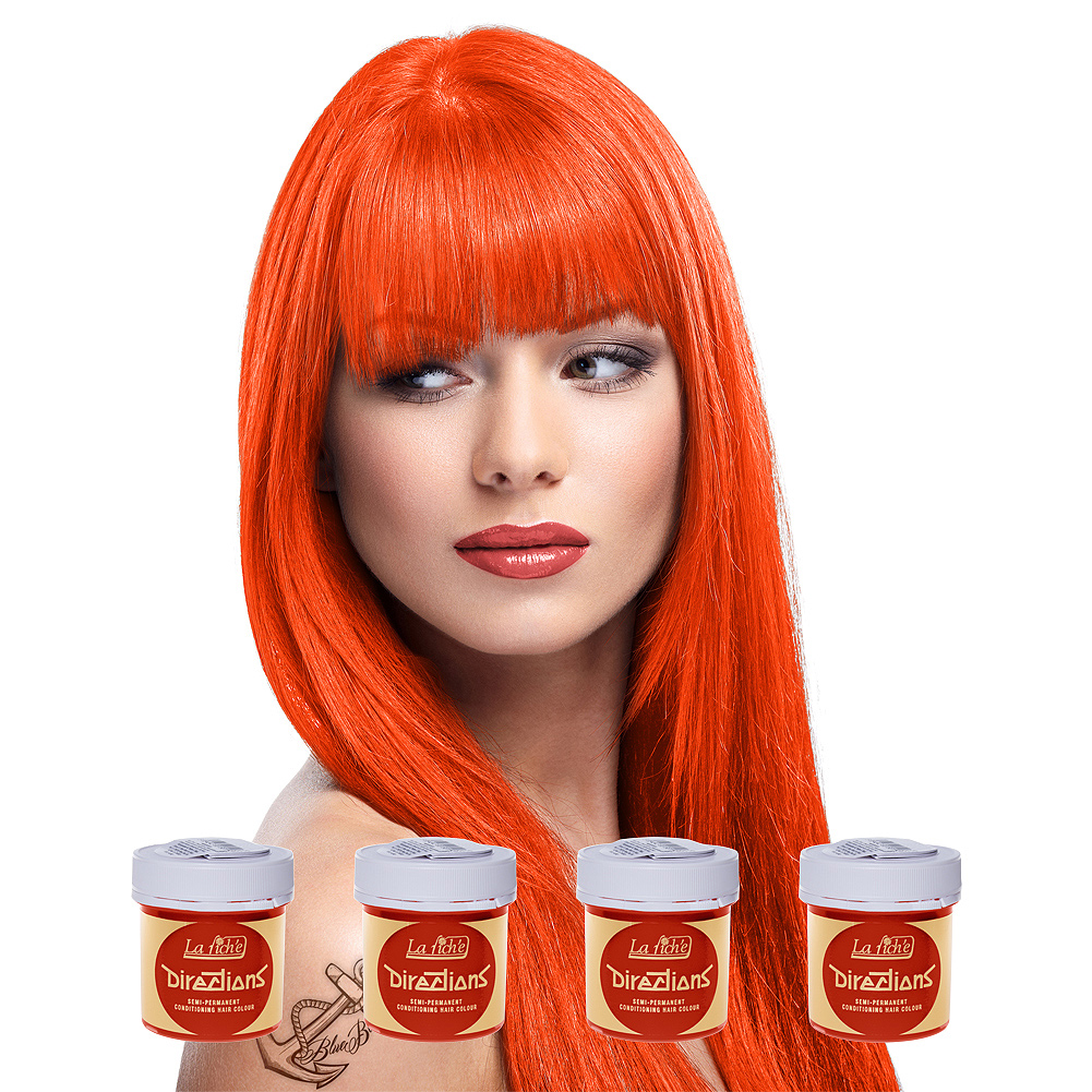 La Riche Directions Colour Hair Dye 4 Pack 88ml (Mandarin)