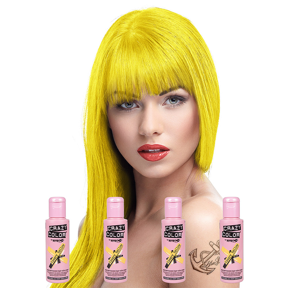 Crazy Color Haartönung 4er Pack 100ml (Canary Yellow - Gelb)