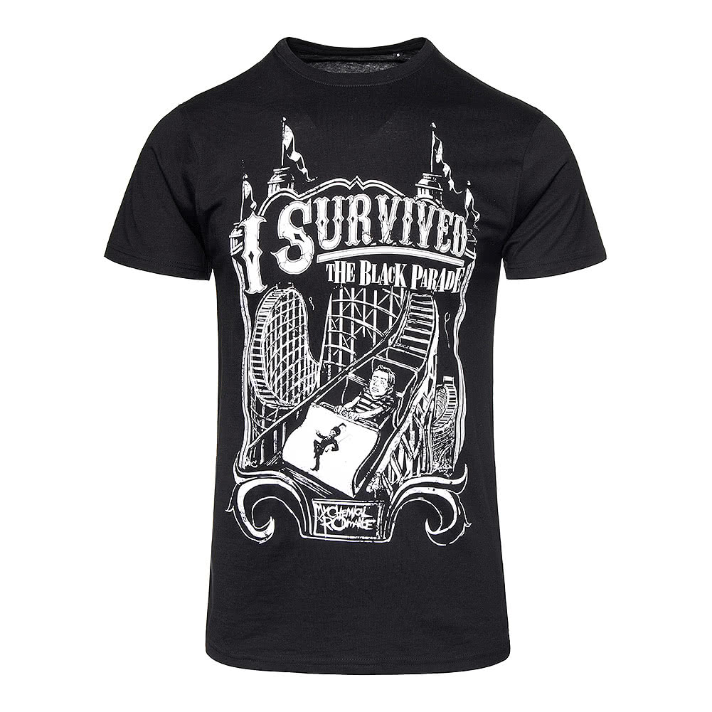 62f6da297 Official My Chemical Romance Unisex Black I Survived T Shirt, Band  Merchandise UK