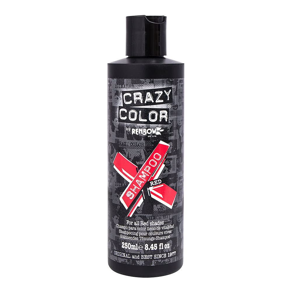 Crazy Color Shampoo For Coloured Hair 250ml (Red)