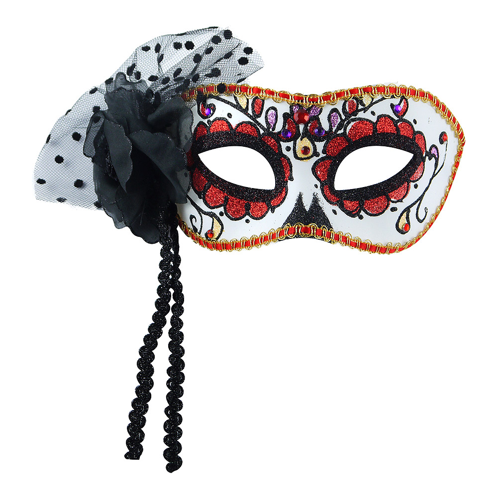 Blue Banana Day of the Dead Glitter and Trim Mask (Multicoloured)