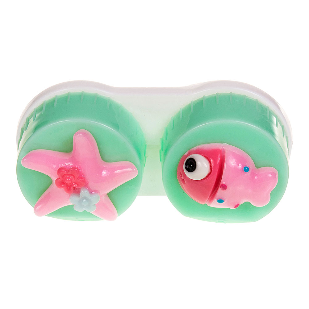 Coloured Contacts Fish Lens Case (Light Green)