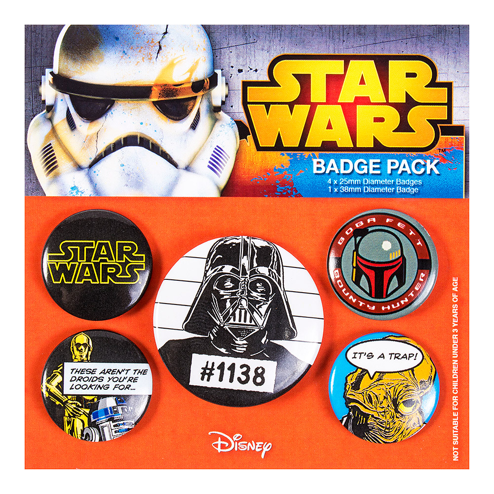 Official Star Wars Badge Set (Pack of 5)