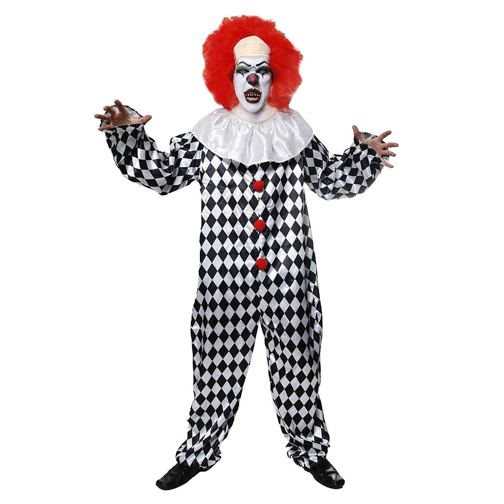 Blue Banana Scary Clown Fancy Dress Costume (Multicoloured)