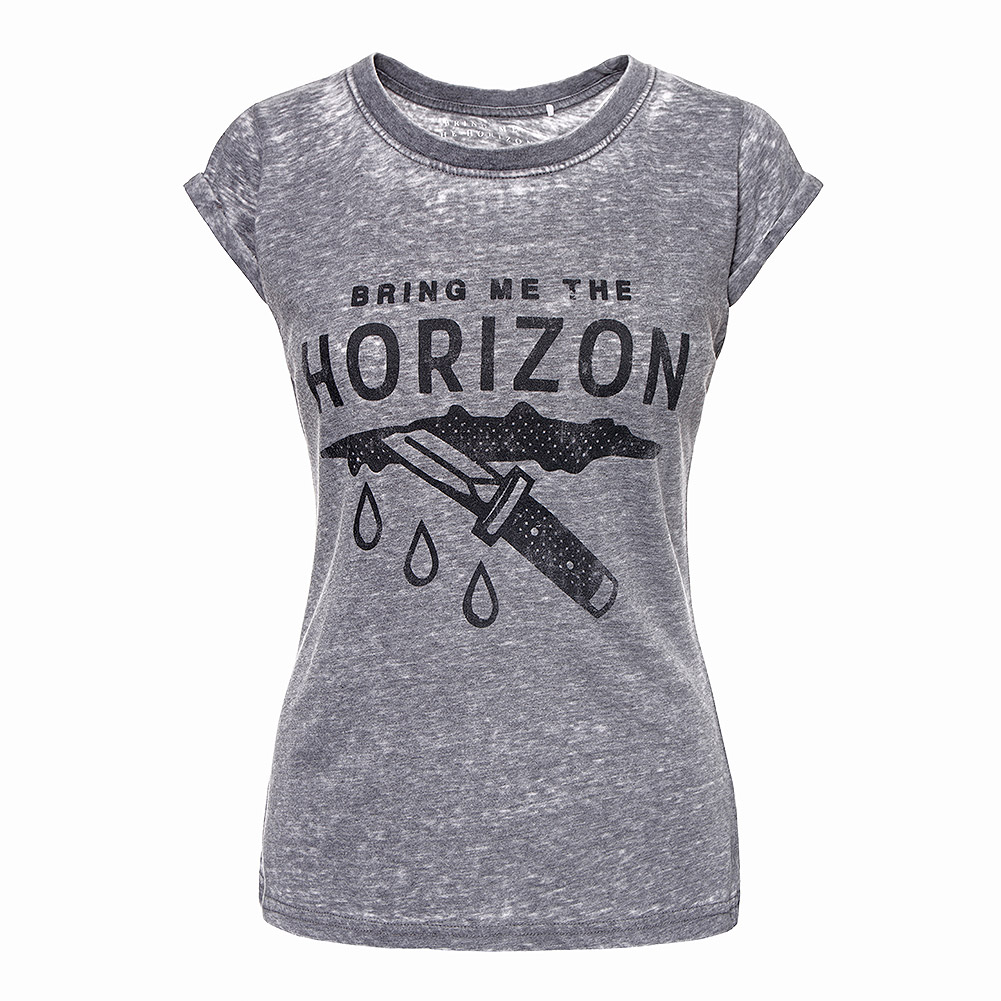 Official Bring Me The Horizon Wound Burnout T Shirt (Charcoal)