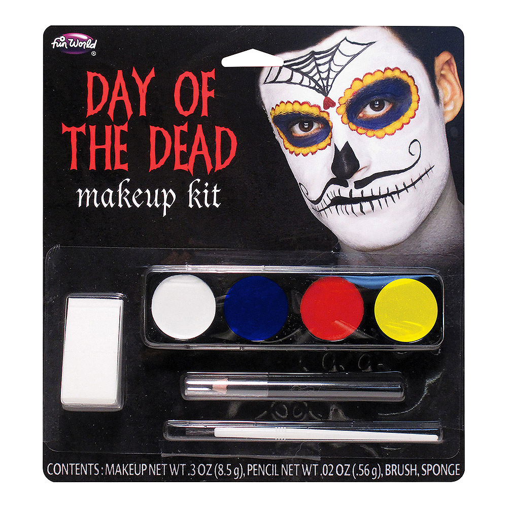 Blue Banana Day Of The Dead Moustache Makeup Kit (Multicoloured)