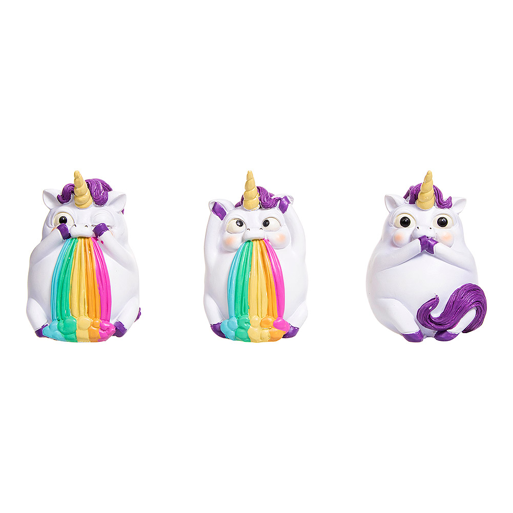 Nemesis Now Three Wise Pukicorns Figurines (Set Of 3)