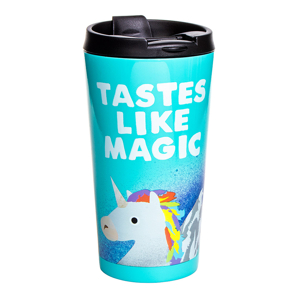 Jolly Awesome Tastes Like Magic Travel Mug (Turquoise)